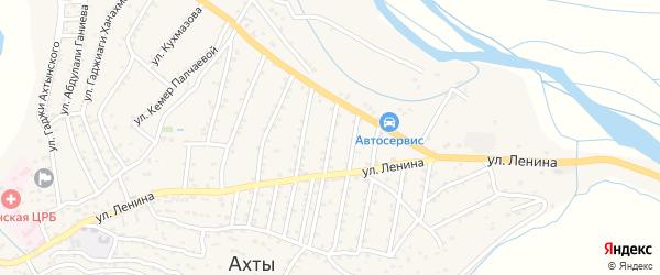 Улица Гасанага Ахмедова на карте села Ахт с номерами домов