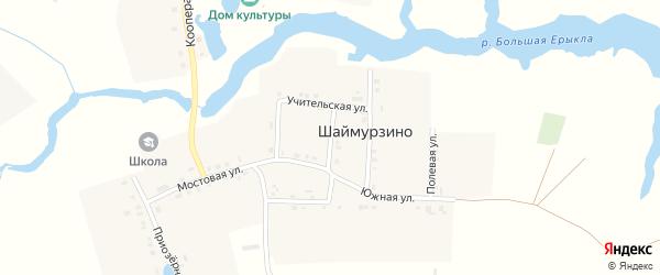 Переулок им А.Матросова на карте деревни Шаймурзино с номерами домов