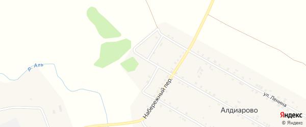 Овражный переулок на карте села Алдиарово с номерами домов