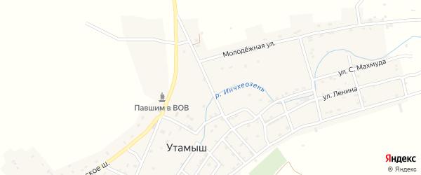 Улица А.Гамринского на карте села Утамыша с номерами домов