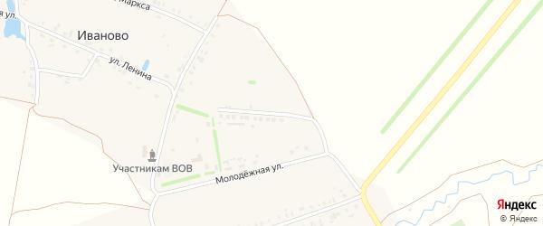 Молодежная улица на карте деревни Иваново с номерами домов