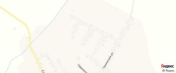 Первомайский 2-й переулок на карте села Шоркистры с номерами домов