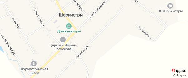 Полевая улица на карте села Шоркистры с номерами домов