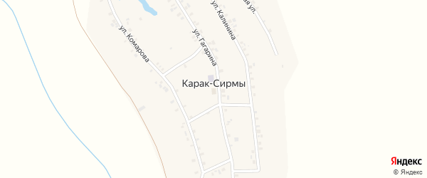 Советская улица на карте деревни Карака-Сирмы с номерами домов