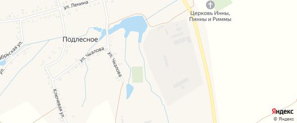 Улица Чкалова на карте деревни Подлесного с номерами домов