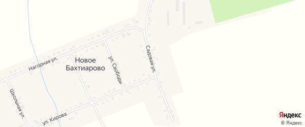 Садовая улица на карте деревни Новое Бахтиарово с номерами домов