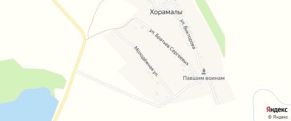 Молодежная улица на карте деревни Хорамалы с номерами домов