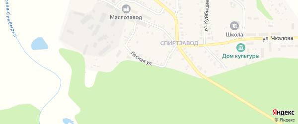 Лесная улица на карте Мариинского Посада с номерами домов