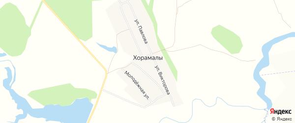 Карта деревни Хорамалы в Чувашии с улицами и номерами домов