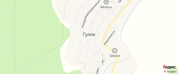 Короткая улица на карте села Гулли с номерами домов