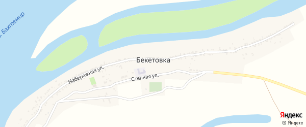 Улица МТФ на карте села Бекетовки с номерами домов