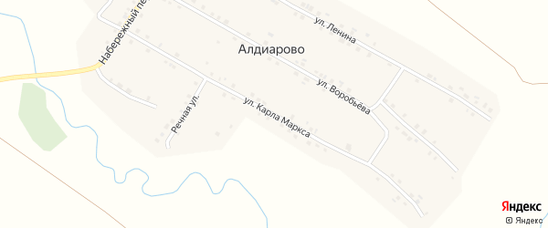 Улица К.Маркса на карте села Алдиарово с номерами домов
