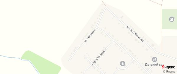 Улица Чапаева на карте села Алманчиково с номерами домов