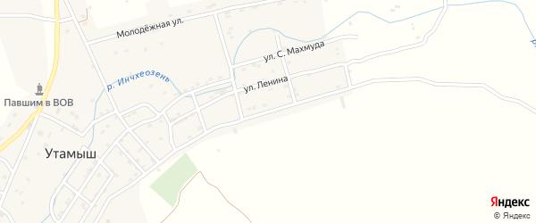 Улица Буйнакского на карте села Утамыша с номерами домов