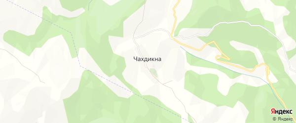 Карта села Чахдикна в Дагестане с улицами и номерами домов