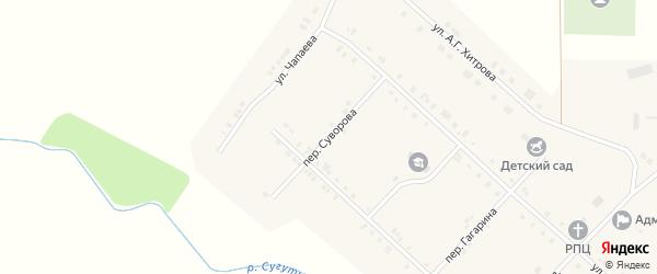 Переулок Суворова на карте села Алманчиково с номерами домов