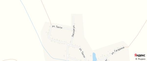 Лесная улица на карте деревни Нюшкас с номерами домов