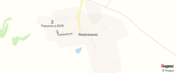 Овражная улица на карте деревни Амачкино с номерами домов