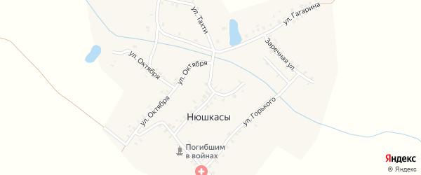 Улица Ленина на карте деревни Нюшкас с номерами домов