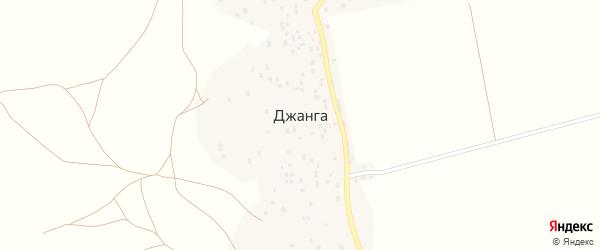 Улица Чупанова на карте села Джанги с номерами домов