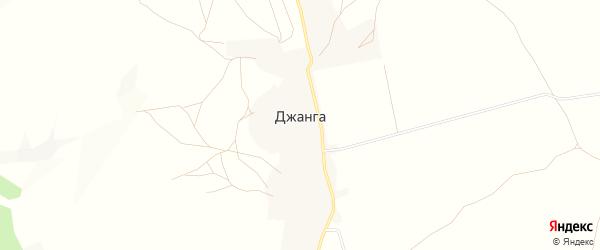 Карта села Джанги в Дагестане с улицами и номерами домов
