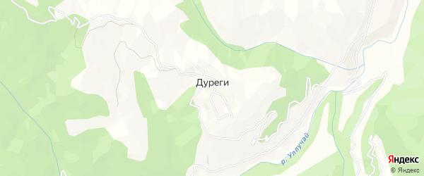 Карта села Дуреги в Дагестане с улицами и номерами домов