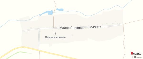 Улица Ракета на карте деревни Малое Яниково с номерами домов