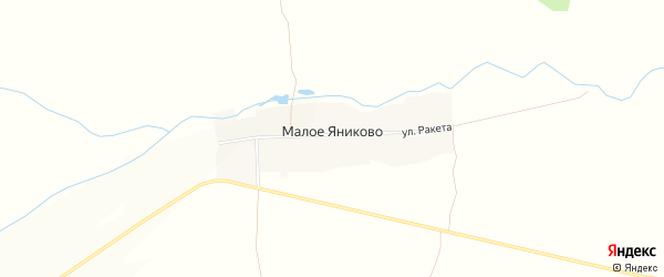Карта деревни Малое Яниково в Чувашии с улицами и номерами домов