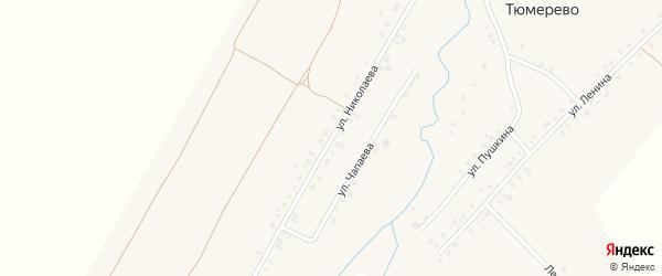 Улица Николаева на карте деревни Тюмерево с номерами домов