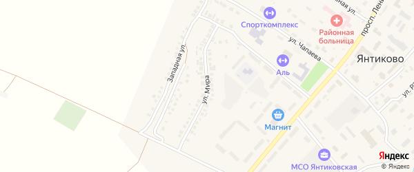 Улица Мира на карте села Янтиково с номерами домов