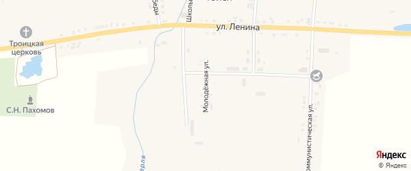 Молодежная улица на карте села Тойси с номерами домов