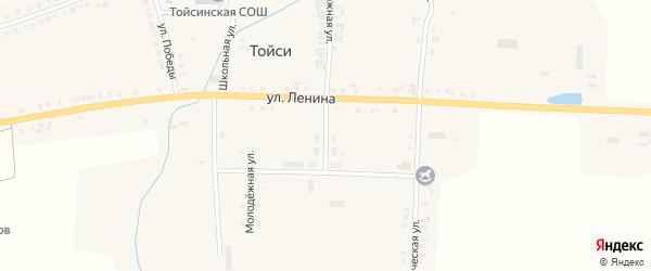 Учительская улица на карте села Тойси с номерами домов