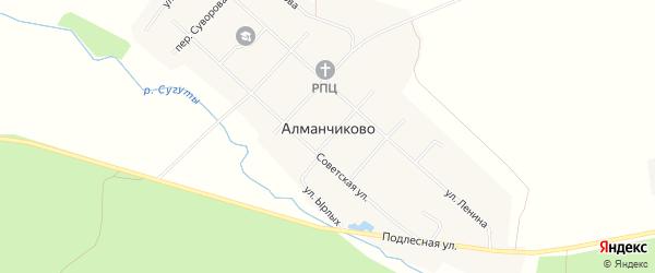 Карта села Алманчиково в Чувашии с улицами и номерами домов