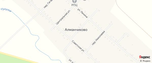 Переулок К.Иванова на карте села Алманчиково с номерами домов