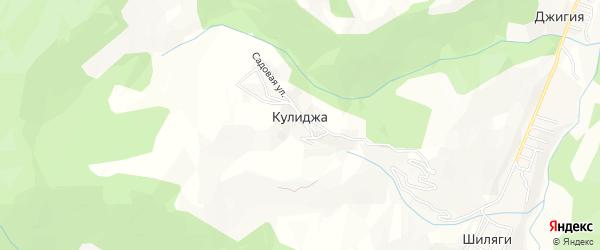Карта села Кулиджа в Дагестане с улицами и номерами домов