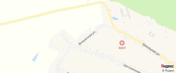 Больничная улица на карте села Сотниково с номерами домов