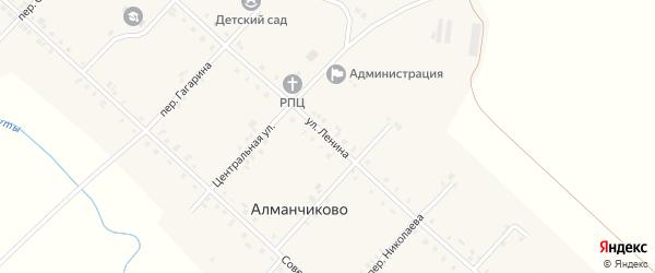 Улица Ленина на карте села Алманчиково с номерами домов