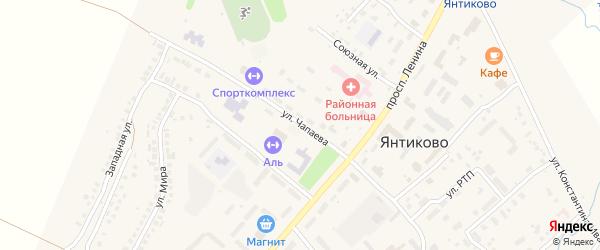 Улица Чапаева на карте села Янтиково с номерами домов