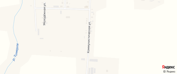 Коммунистическая улица на карте села Тойси с номерами домов