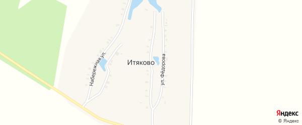 Улица Федорова на карте деревни Итяково с номерами домов