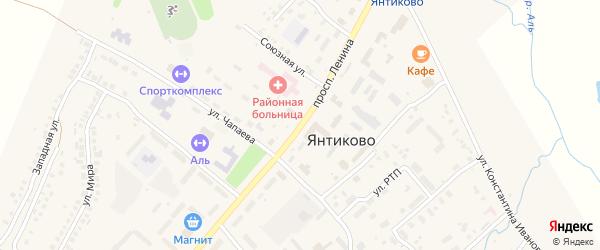 Проспект Ленина на карте села Янтиково с номерами домов