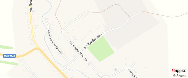 Улица Куйбышева на карте села Янтиково с номерами домов