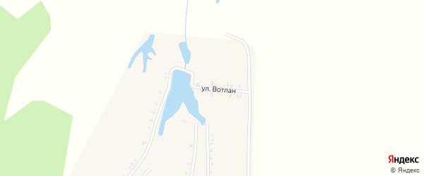 Улица Вотлан на карте деревни Итяково с номерами домов