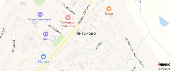 Улица К.Маркса на карте села Янтиково с номерами домов