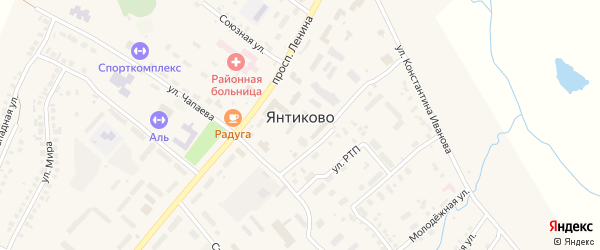 Территория РТП на карте села Янтиково с номерами домов