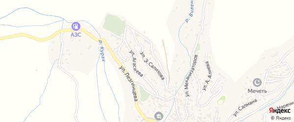 Улица Э.Салихова на карте села Кураха с номерами домов