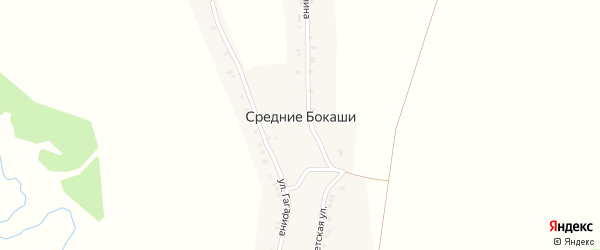 Улица Гагарина на карте деревни Средние Бокаши с номерами домов