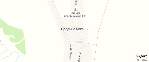 Улица Ленина на карте деревни Средние Бокаши с номерами домов