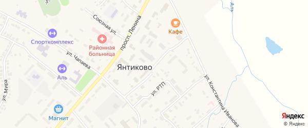 Кооперативная улица на карте села Янтиково с номерами домов