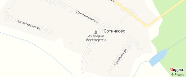 Магазинная улица на карте села Сотниково с номерами домов